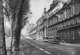 Quai des Tuileries thoroughfare in Paris, France