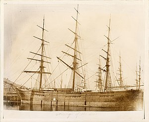 Sovereign of the Seas (clipper) - Image: Sovereignoftheseasdo ckedphoto