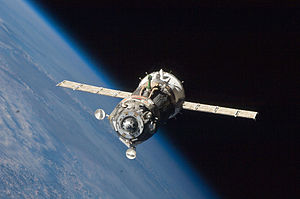 Expedition 26 - Image: Soyuz TMA 19 spacecraft departs the ISS