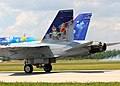 Special Paint for RCAF 90th Anniversary on CF-18 (14358492018).jpg