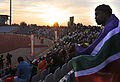 Spectators watching Brazil national football team train at Dobsonville Stadium 2010-06-03 12.jpg