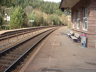 Speicher, Germany - Railway station platform