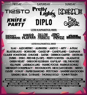 Spring Awakening (festival) - SAMF 2014 lineup