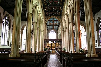 Church of St Mary Magdalene, Newark-on-Trent - Interior view of the church