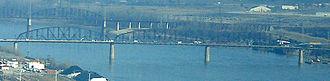 McKinley Bridge - The McKinley Bridge seen from the Gateway Arch