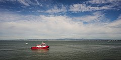 St Francis Fireboat in the San Francisco bay.jpg