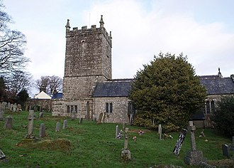 Grade II* listed buildings in West Devon - Image: St Mary's church, Belstone geograph.org.uk 623993