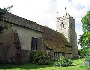 Church of St Mary and St Thomas, Knebworth - The northern side of the church looking towards the tower