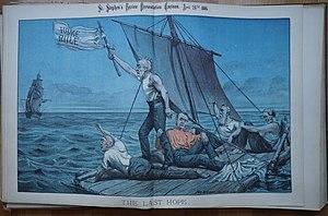 William Mecham - Depiction of Gladstone in St Stephen's Cartoons