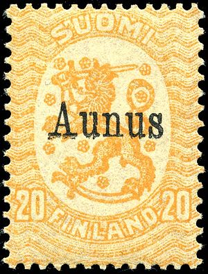 Aunus expedition - Stamp from 1919