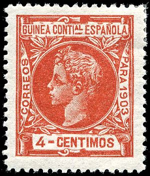 History of Equatorial Guinea - A 1903 stamp of Spanish Guinea