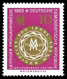 Leipziger Messe Auf Briefmarken Der Deutschen Post Der Ddr Wikipedia