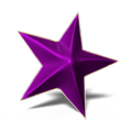 Star 3D lila golden frame glossy.png