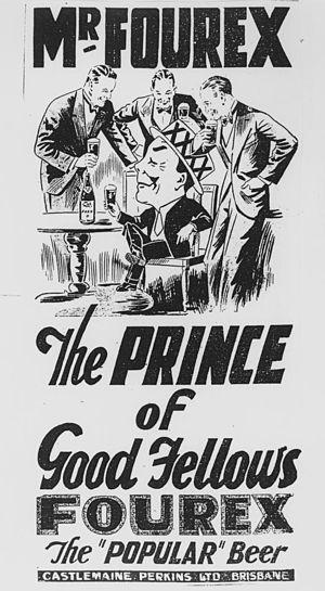 Castlemaine XXXX - Mr Fourex in a 1920 advertisement
