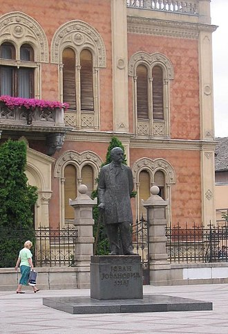 Jovan Jovanović Zmaj - Monument to Zmaj in Novi Sad