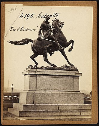 Sir James Outram, 1st Baronet - Statue of Sir James Outram at Maidan, now in garden of Victoria Memorial, Kolkata