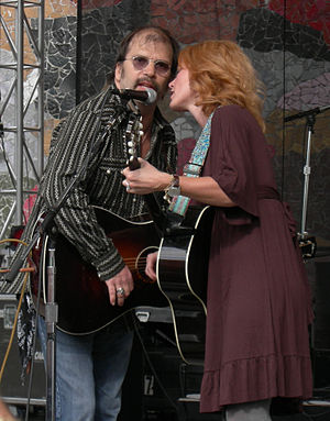 Steve Earle - Steve Earle onstage with Allison Moorer at the Bumbershoot event in 2007