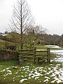 Stile and footpath to Linton from The Fording - geograph.org.uk - 1722282.jpg
