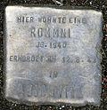 Stolperstein for a Rommni (Thieboldsgasse 9)