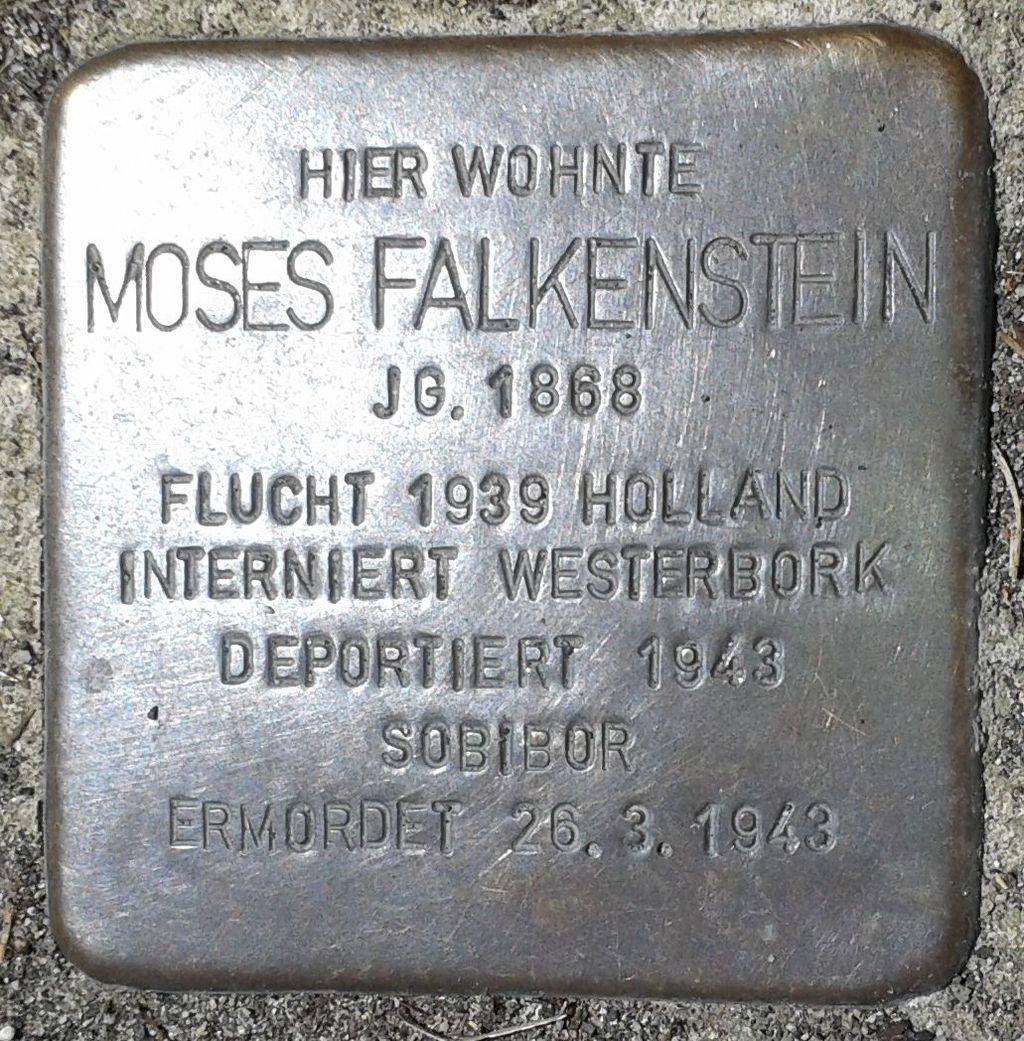 Stolperstein Montabaur Alleestraße 5 Moses Falkenstein