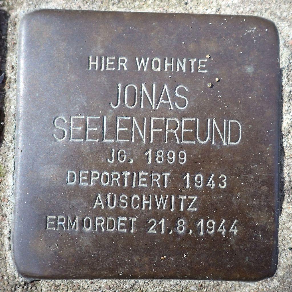 Stolperstein Rendsburg Provianthausstraße 5 Jonas Seelenfreund.jpg