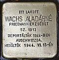 Stolperstein für Aladarne Wachs (Nyíregyháza).jpg