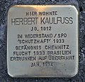Stolperstein für Herbert Kaulfuss, Yorckstraße 70, Chemnitz (2).JPG