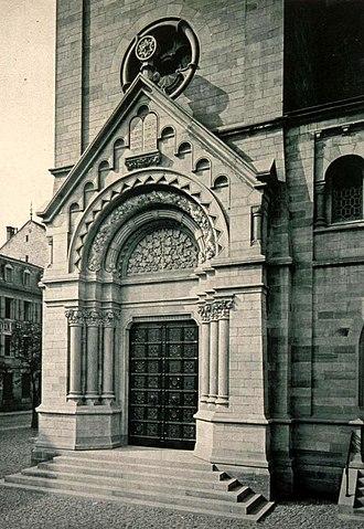 Synagogue du Quai Kléber - Image: Strasbourg synagogue quai Kléber portail principal 1898 1940