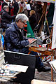 Street artists on the Place du Tertre, Paris December 2009 004.jpg