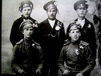 Latvian Riflemen - Latvian volunteers from 3rd. Kurzeme rifleman battalion (1915)