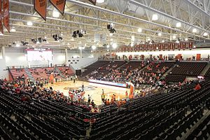 Stroh Center - Interior of the Stroh Center prior to an exhibition game against Tiffin on November 5, 2011.