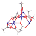 Structure of anhydrous ferrous acetate (QQQFUY01).png