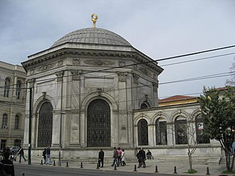 Abdülaziz - The türbe (mausoleum) of Sultan Mahmud II (his father) on Divan Yolu street, where Abdülaziz is also buried.