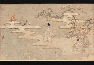 Rouleau illustré du roman de Sumiyoshi