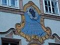 Sundial in the courtyard of Stift Sankt Peter Salzburg.jpg
