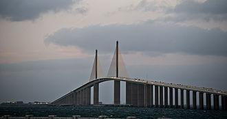 Sunshine Skyway Bridge - Image: Sunshine Skyway on the Tampa Bay