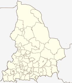 Revda is located in Sverdlovsk Oblast