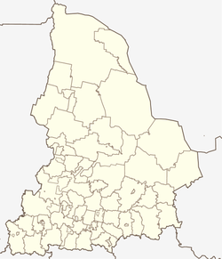Kamyshlov is located in Sverdlovsk Oblast