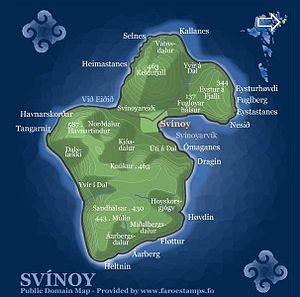 Svínoy - Map of Svinoy