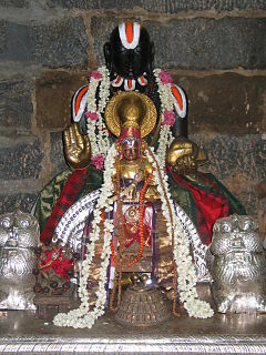 Vedanta Desika Great Sri Vaishnavaitic Guru and Incarnation of Sri Venkatachalapathy of Tirumala