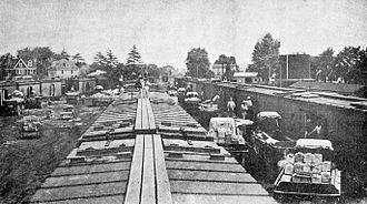 Swedesboro, New Jersey - Tomato shipping in yard at Swedesboro, 1912