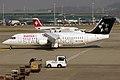 Swiss (Star Alliance livery), HB-IYU, Avro RJ100 (16270433099).jpg