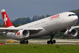 Un Airbus A330-300 della Swiss International