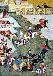 османские войска и передовой отряд крымских татар в Сигетварской битве