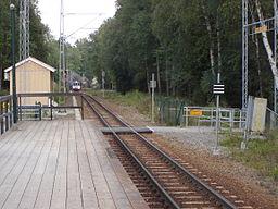 Täljö station 2010 før oprustning af platform og bane