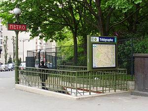 Télégraphe (Paris Métro) - Image: Télégraphe métro 01