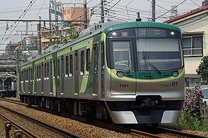Tōkyū Ikegami Line - Image: Tōkyū 7000 series (II) EMU 7101f
