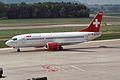 "TEA - Trans European Airways Switzerland Boeing 737-3Q8 HB-IIF ""Spirit of Sabine"" (23768334421).jpg"