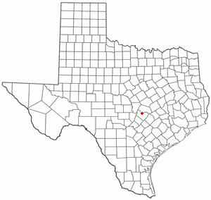Jollyville, Texas - Image: TX Map doton Jollyville