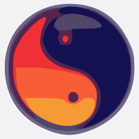The Taijitu, symbol of yin and yang.
